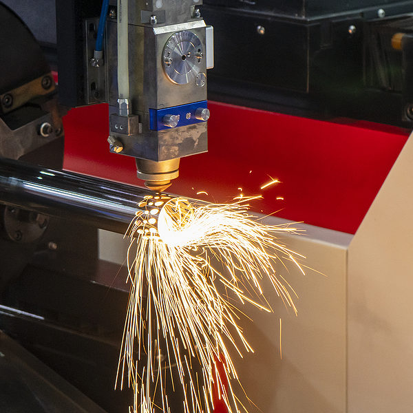 drilling machine drilling the metal